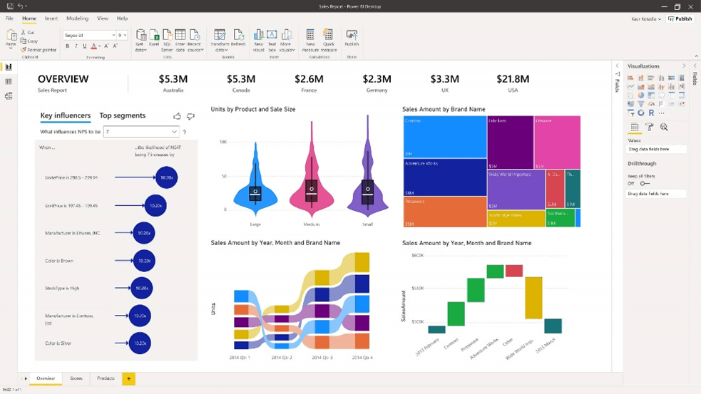 Example of a Microsoft Power BI report